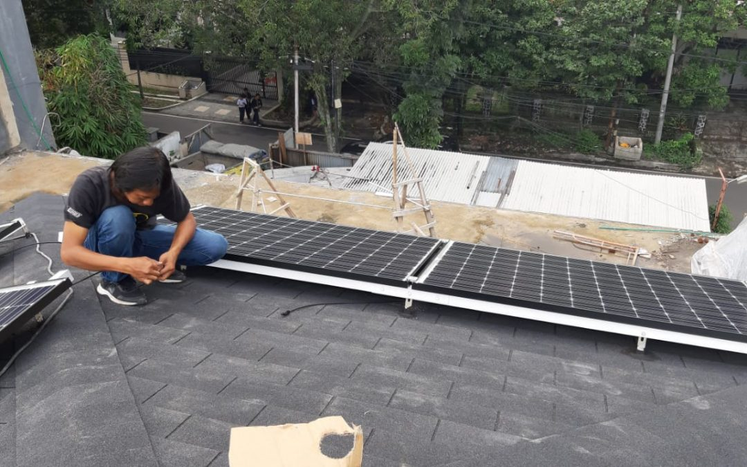 Installasi Solar Panel Rumah Tinggal Cilaki
