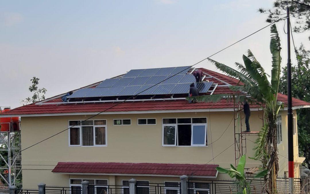 Installasi Solar Panel Villa Ujung Berung